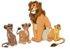 Kopa and his kids by Sulka
