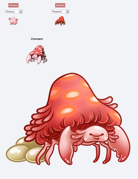 Chansect Pokemon Fusion by TentacleWaitress