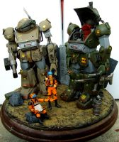 Votoms diorama pic1 by ThePrinceofMars