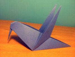 Origami bird I by OldCook