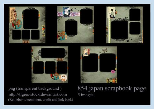 854 Japan Scrapbook Page by Tigers-stock