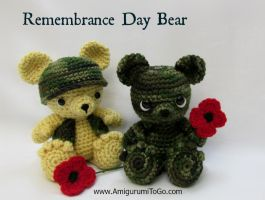 Remembrance Day Bear Pattern by sojala
