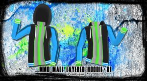 MMD Male Layered Hoodie v2 +DL by Green-Fighter