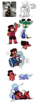 Ruby x Sapphire sketchdump by withery