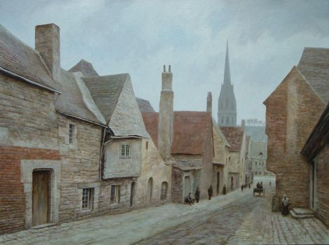 Small street in Quimper by voitv