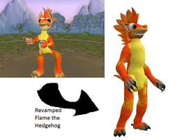 Spore: Flame the Hedgehog revamped by PukingRainbow