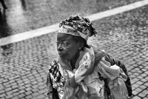 old woman B and W by cagriilban