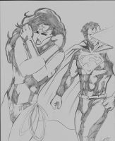 Wonder Woman and Superman commission by TeamAmazing