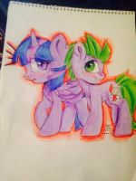 Twi and spike commission by music2myheart
