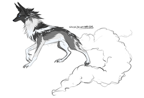 Adopt - Clouded-tail -- SnowySky by NiseSK