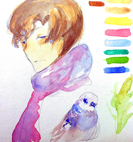 Watercolor test by kyunyo
