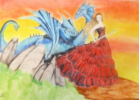 The woman and the dragon by Maryluworld
