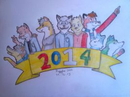 happy new year friends :D by Riggsfur
