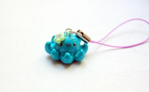 Kawaii Octopus Charm by FatCatCharms