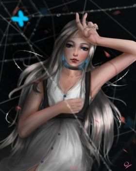 Spider web by Ocetee