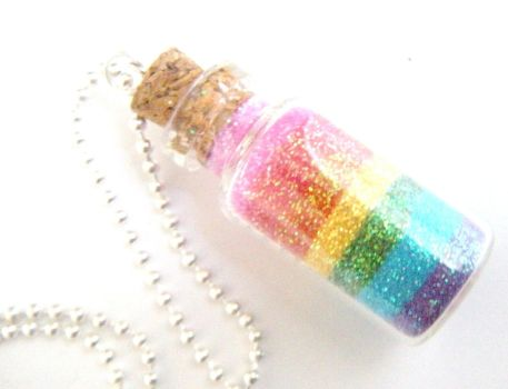 Rainbow Glitter in Bottle by AmbiguousAngel