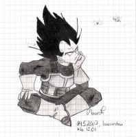 Vegeta art gift 1 by Nei-Ning