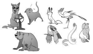 animal sketches 2 by scrii
