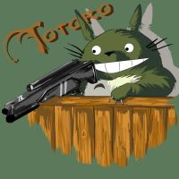 Totoro - Laser Paintball by kagato007