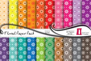Floral Paper Pack by naga-pree