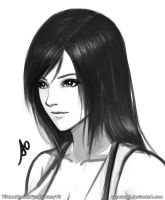 Tifa Lockhart Portrait by borjen-art