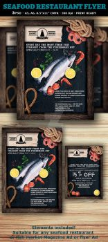 Seafood Restaurant Ad or Flyer Template by Hotpindesigns