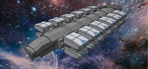 Starship Cargo Ship by emppyrean