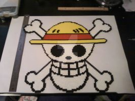 One Piece logo from perler beads by FartingKittens