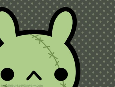 Zombie Bunny Wallpaper by MoogleGurl