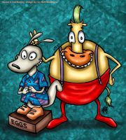 Rocko and HefferTK by IvyBeth