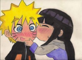 Naruhina kiss by Cartoon-Elfje