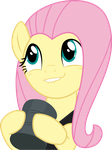 Excited Fluttershy by gebos97531