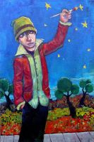Ian Paints the Stars by jasinski