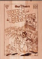 Uncle Scrooge Woodburning by NerdCraft