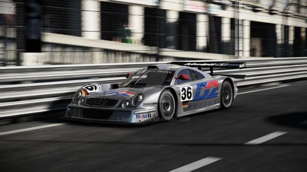Mercedes-Benz CLK LM on the streets of Monaco by Rapido25