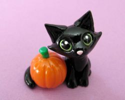 Halloween Kitty by DragonsAndBeasties