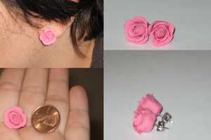 Pink Rose Earrings - Jupiter by TuneinAnytime