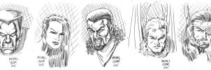 Daily Doodles X-Men 2 by MichaelOdomArt