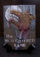 The Slaughtered Lamb Sign by pyro-helfier