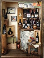 Antique Small Wine Bar by dollhouseara