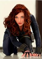 BLACK WIDOW _ SCARLETT JOHANSSON by MOROTEO56