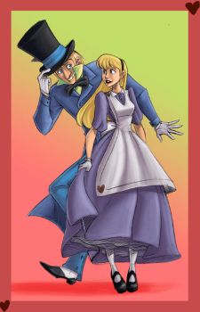 Mad Hatter and Alice by Crispy-Gypsy