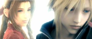 Cloud and Aerith Blend by lipringinspired