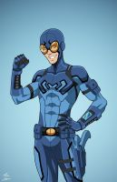 Blue Beetle [teen] (Earth-27) commission by phil-cho