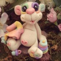 polymer clay baby bear snuggle by crazylittlecritters