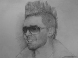 Jared Leto. Mohawk. I miss it. by AlenkaV