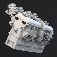 Mv Agusta brutale Motor WIP by OneTwoThreeSquare