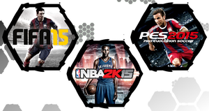 Fifa 15, Pes 2015 and NBA 2K15 by WE4PONX
