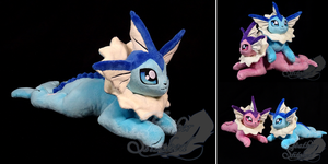 Vaporeon Plush by FeatherStitched