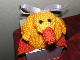 My Knitted Duck Plush by pinktoque